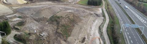 Création du PAE des Sources à Aix les Bains le long de l'A41
